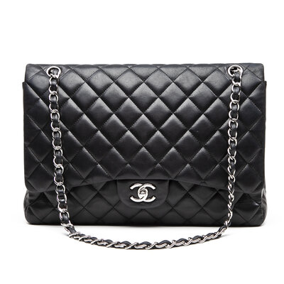 Bolsa Chanel Jumbo Double Flap em Couro Preta