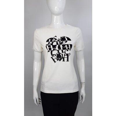 T-Shirt Carolina Herrera em Cotton Off White