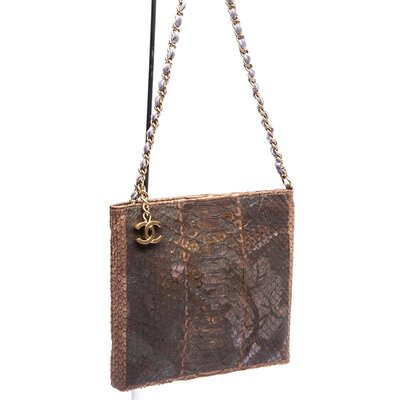 Clutch Chanel Snake Natural