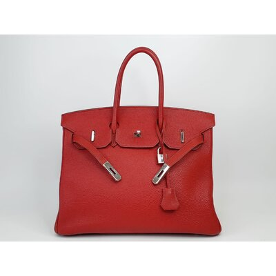 Bolsa Hermès Birkin 35 Togo Vermelha