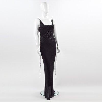 Vestido longo Jenny Packhman bordado preto