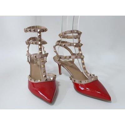 Sapato Valentino Rockstud Verniz Vermelho