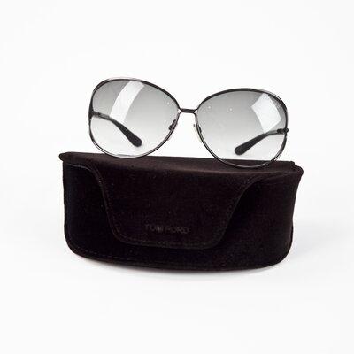 Oculos Tom Ford aro prata/preto