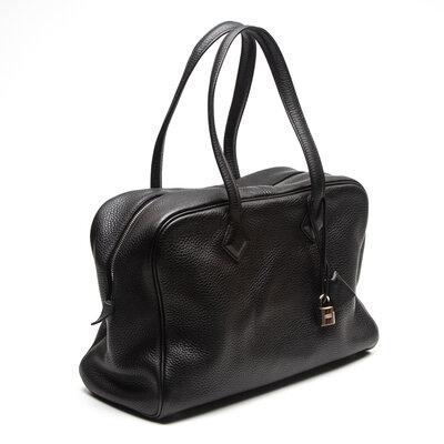 Bolsa Hermès Victoria II 35 Clemence Preta