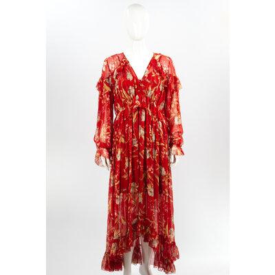 Vestido Longo Zimmermann em Musseline Estampado