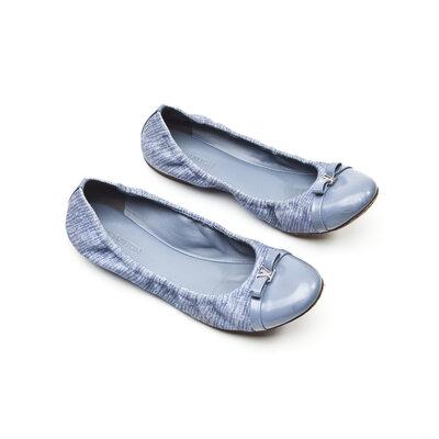 Sapatilha Louis Vuitton em Jeans e Couro Azul
