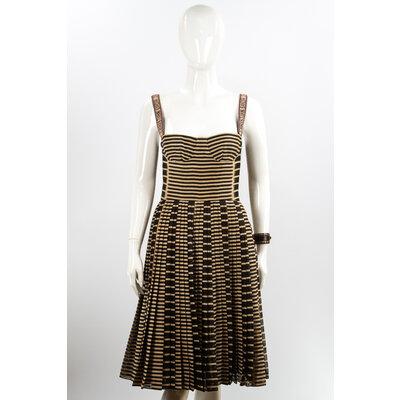 Vestido Christian Dior J'Adior Preto/Bege