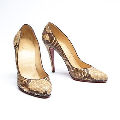 Sapato C.Louboutin Phyton Natural