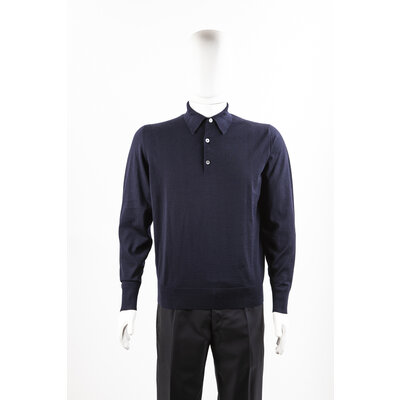 Malha Hermès em cashmere azul marinho