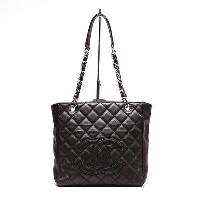 Bolsa Chanel Petit Shopper em Couro Caviar Marrom