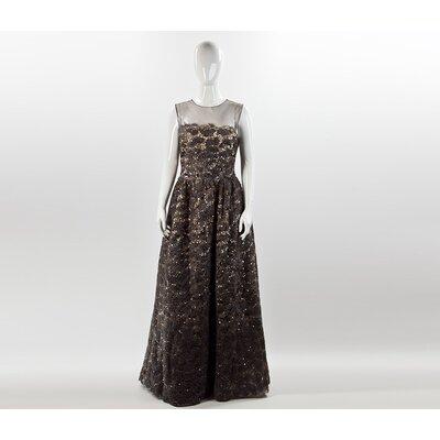 Vestido Longo Oscar de la Renta bordado