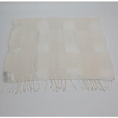 Echarpe Galerie Cambodge Cashmere e Seda Off White