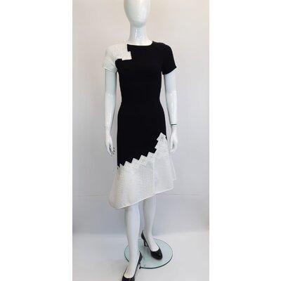 Vestido Jonathan Shimkhai Crepe Preto e Branco