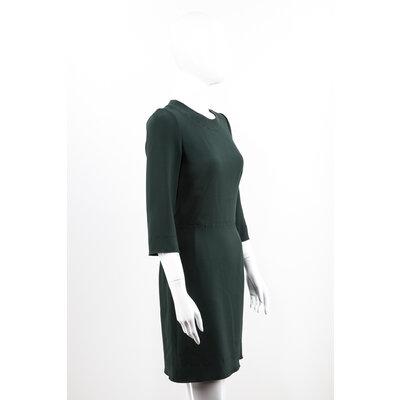 Vestido com Manga Dolce & Gabbana Crepe Verde Musgo