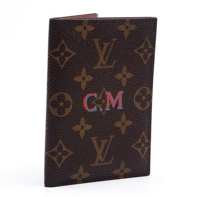 Porta Passaporte Louis Vuitton Couro Monograma