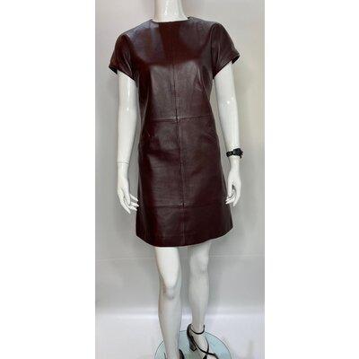 Vestido Balenciaga em Couro Vinho