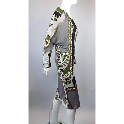 Vestido Pucci Jersey De Seda Estampado