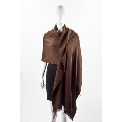 Echarpe Dior em cashmere na cor chocolate