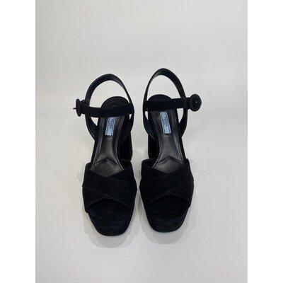 Sandália Prada Camurça Preta