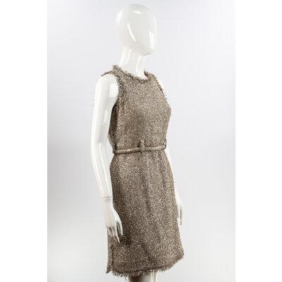 Vestido Chanel Tweed Prateado