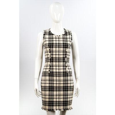 Vestido Louis Vuitton Tweed Preto/Off White