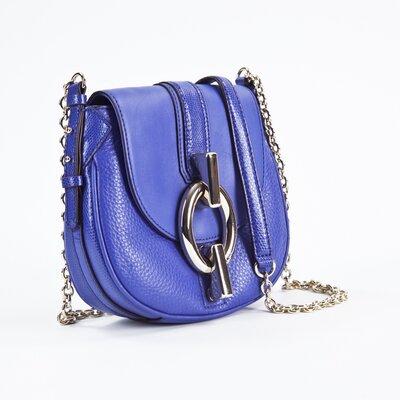 Bolsa DVF em couro azul bic