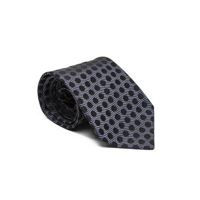 Gravata Gucci em seda preta com azul