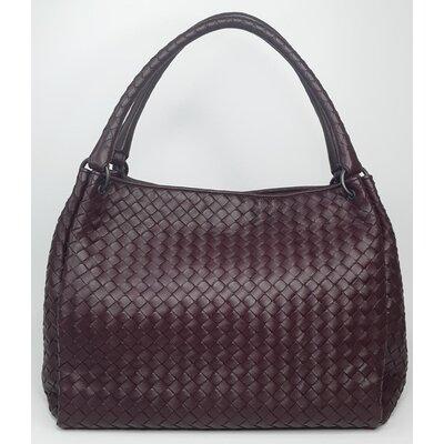Bolsa Bottega Veneta Intrecciato Leather Vinho