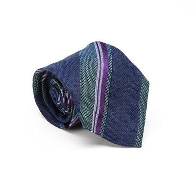 Gravata Etro Listrada Azul Verde e Roxa