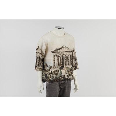 T-Shirt Dolce & Gabbana em cotton bege e marrom