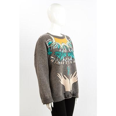 Malha Christian Dior Cinza em Cashmere e Lã