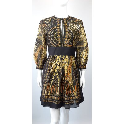 Vestido Christian Dior Seda Estampado