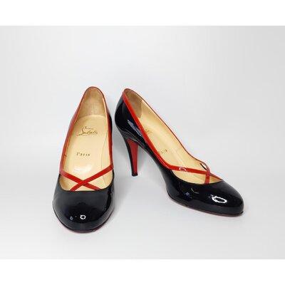 Sapato C. Louboutin em Verniz Preto com Vermelho