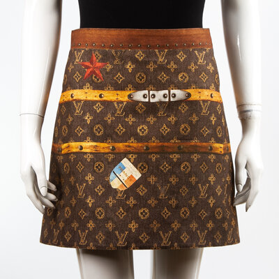 Saia Louis Vuitton Tecido Monograma