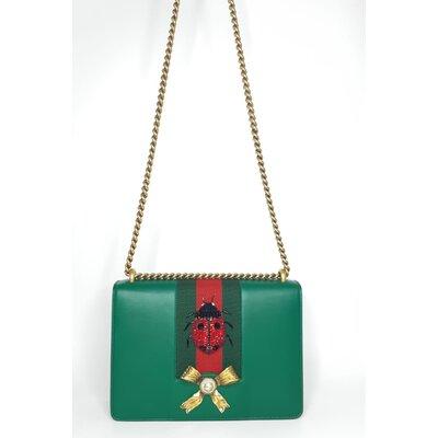 Bolsa Gucci em Couro com Joaninha em Strass Vermelho