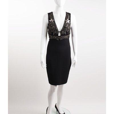 Vestido Pucci preto c/ bordado