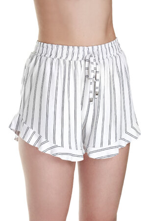 SHORTS RUFFLE STRIPE