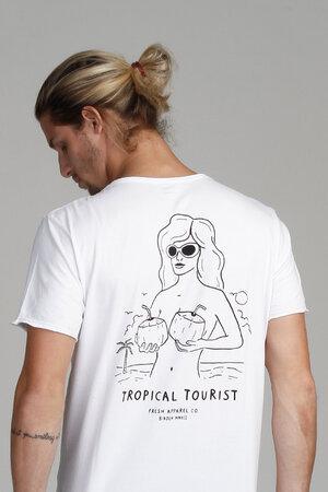 CAMISETA TROPICAL TOURIST WHITE