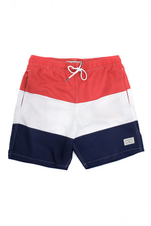 SWIM SHORT SLIM HAPPY STRIPES