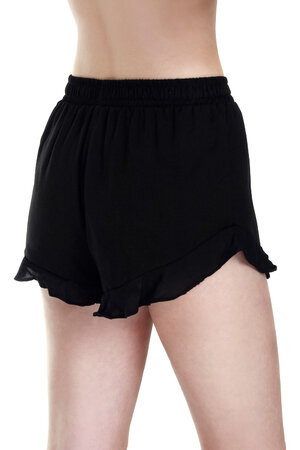 SHORTS RUFFLE BLACK