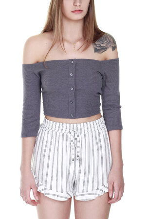 CROPPED BUTTONS MESCLA
