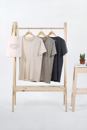 PACK CAMISETAS WASHED BASICS + TOTE BAG