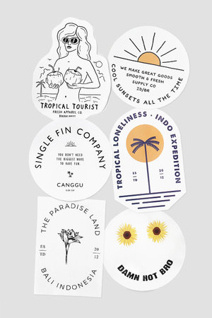 BIRDEN STICKERS / SUMMER 19 - KIT 6 ADESIVOS