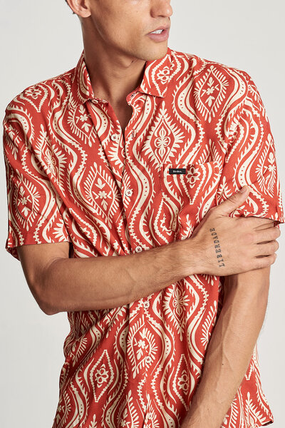 CAMISA TRIBAL RED
