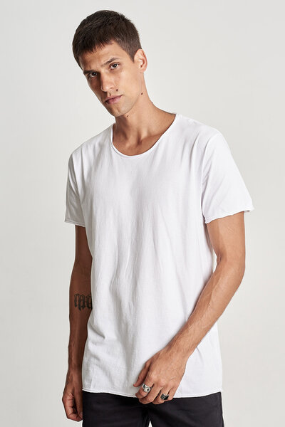 CAMISETA WASHED WHITE ESSENTIAL