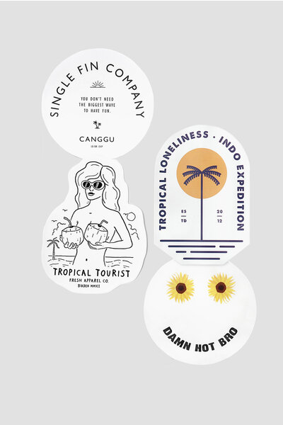 BIRDEN STICKERS / SUMMER 19 - KIT 4 ADESIVOS