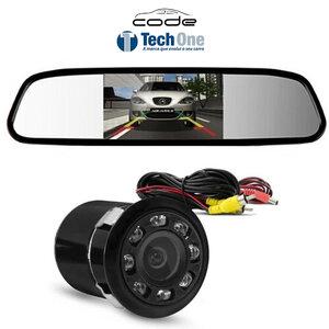 Kit Retrovisor com Câmera de Ré Infra Vermelho LED