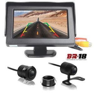 Kit Monitor com Tela e Câmera de Ré 2x1