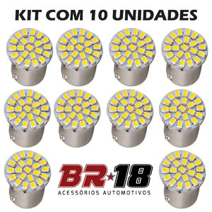 10 Unidades (5 Pares) LED 67 12V 1 Polo
