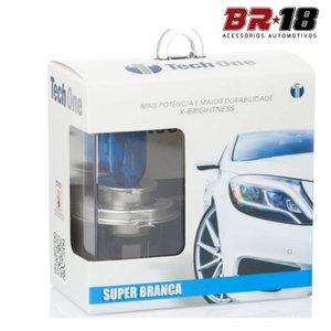 Lâmpada Super Branca HB4 9006 55w - Efeito Xenon 8500k (Par)